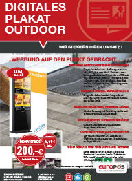 Digitales Plakat Outdoor